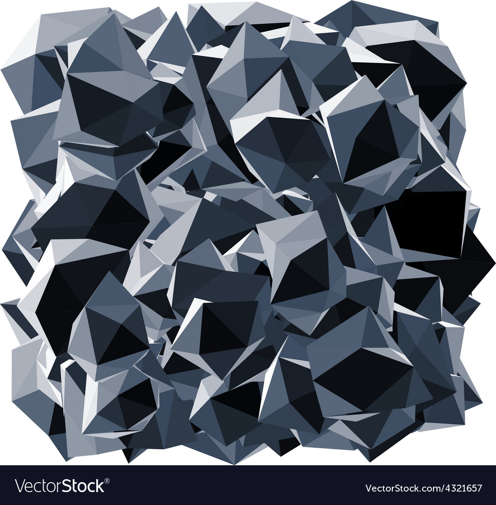 Black crystal shape over white vector