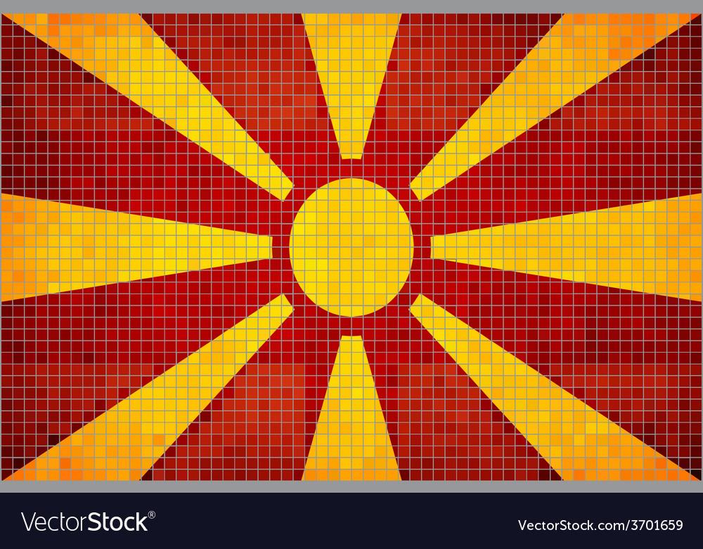 Mosaic flag of macedonia vector