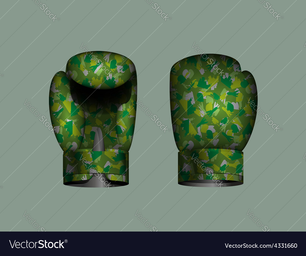 Set boxing gloves military eps 10 vector