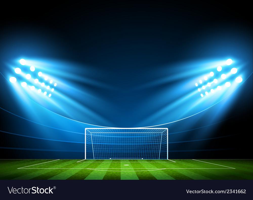Soccer arena stadium vector
