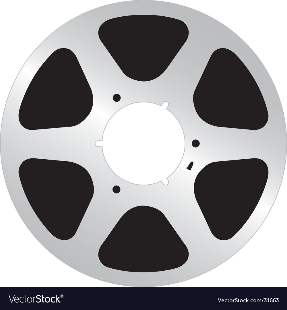 Analog tape reel vector