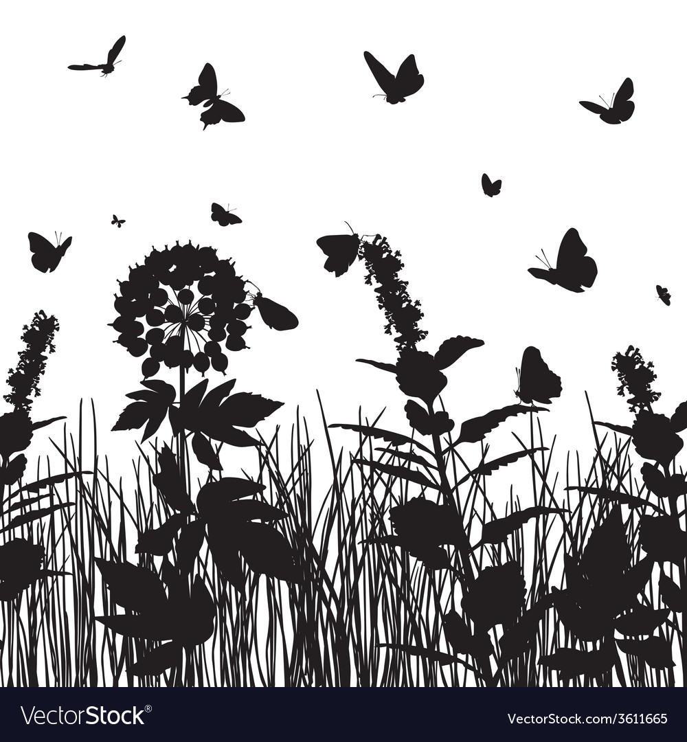 Silhouette of nature vector