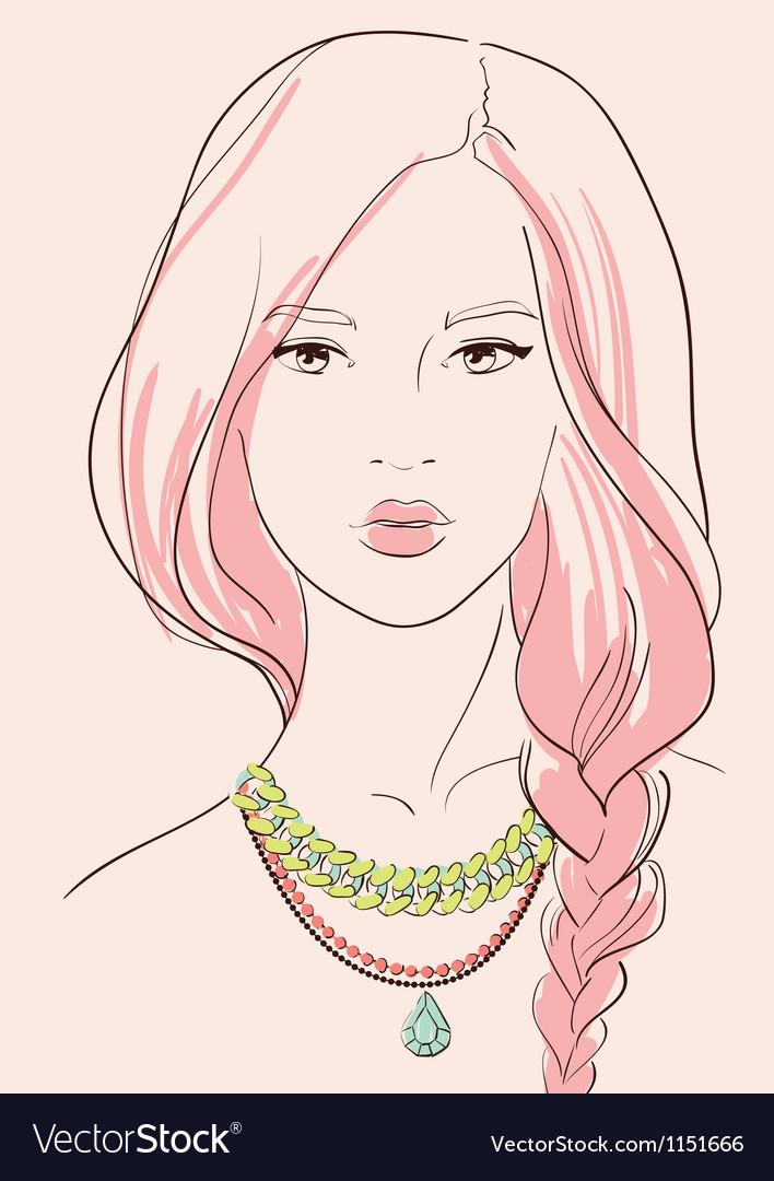 Beautiful woman vector