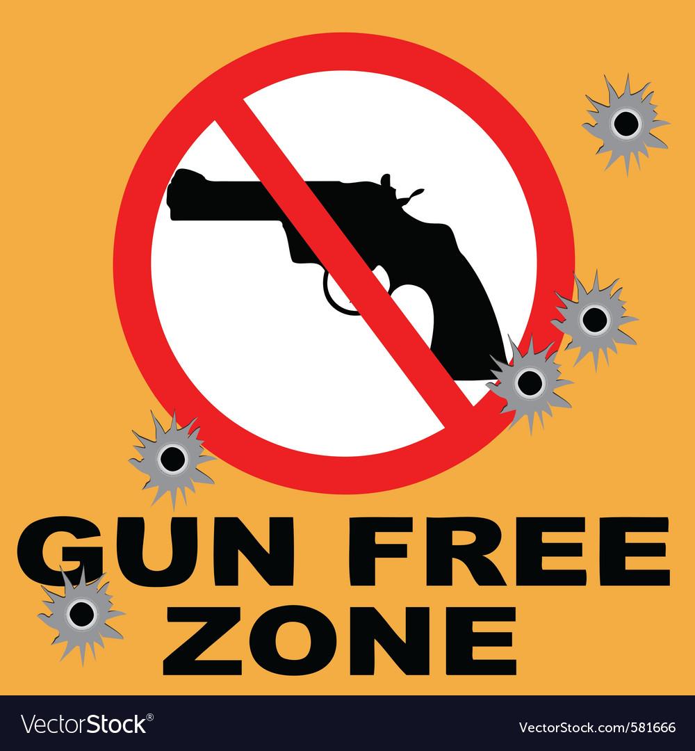 Gun free zone vector
