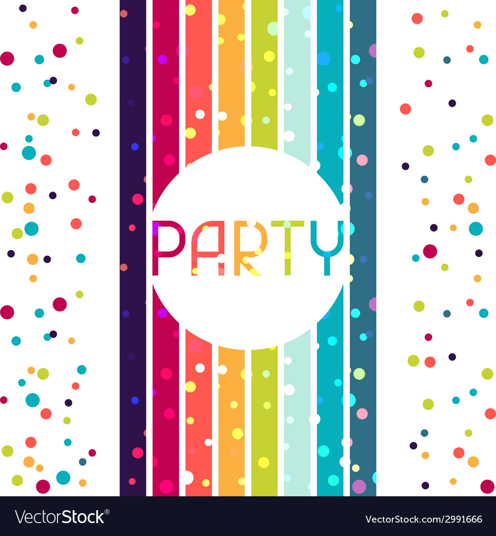 Holiday celebration background design for party vector