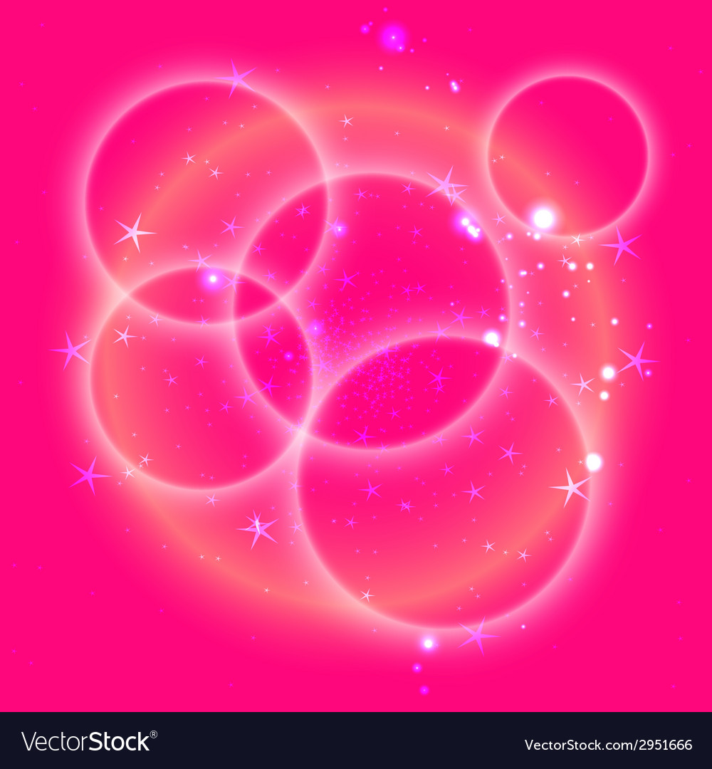 Pink circle background with star vector
