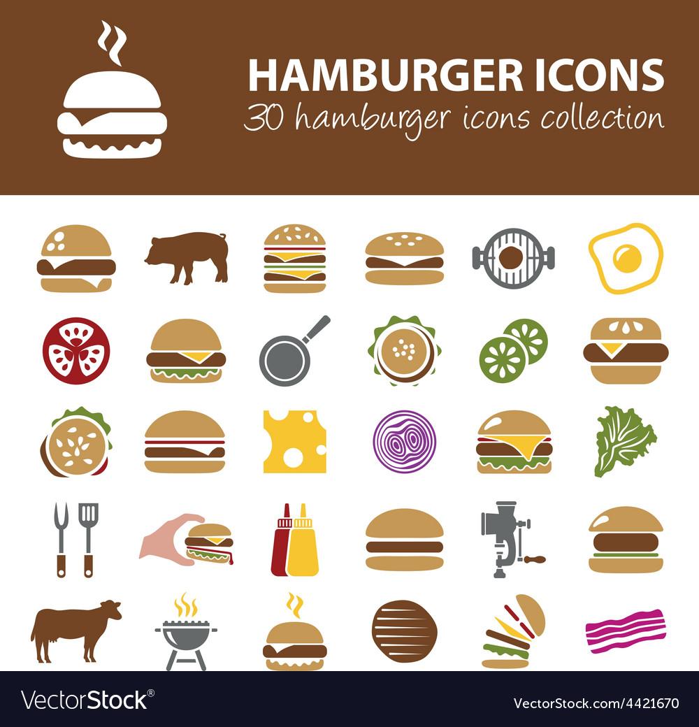Hamburger icons vector