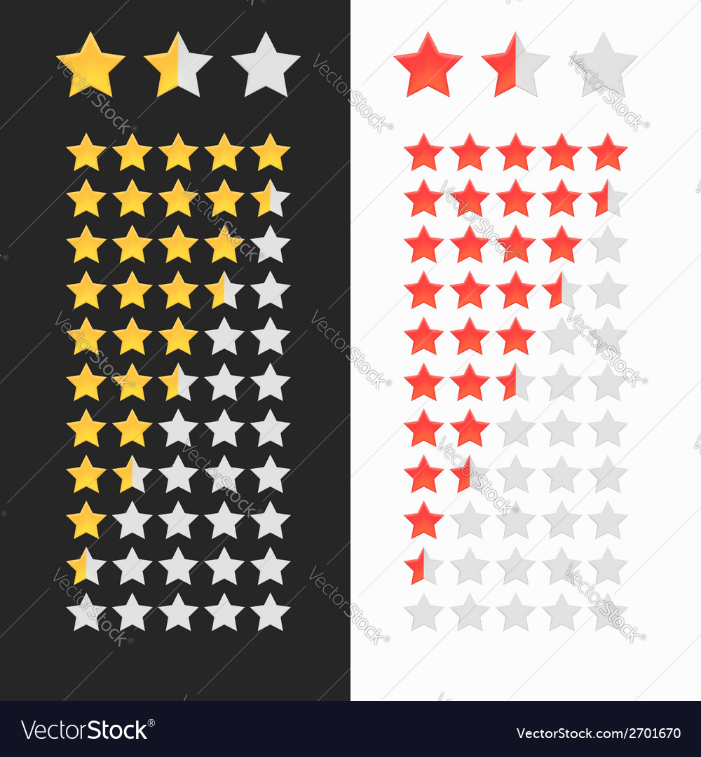 Rating stars isolated vector