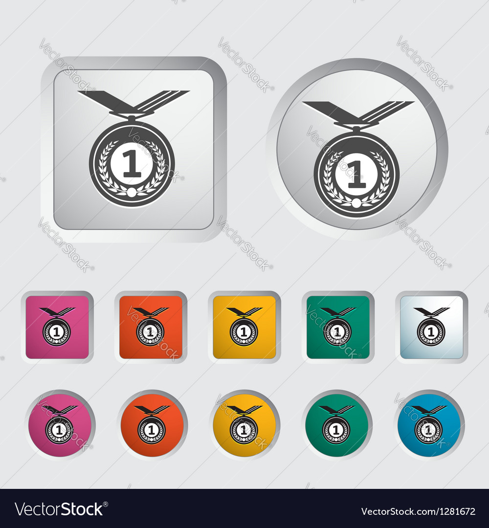 Icon medal vector