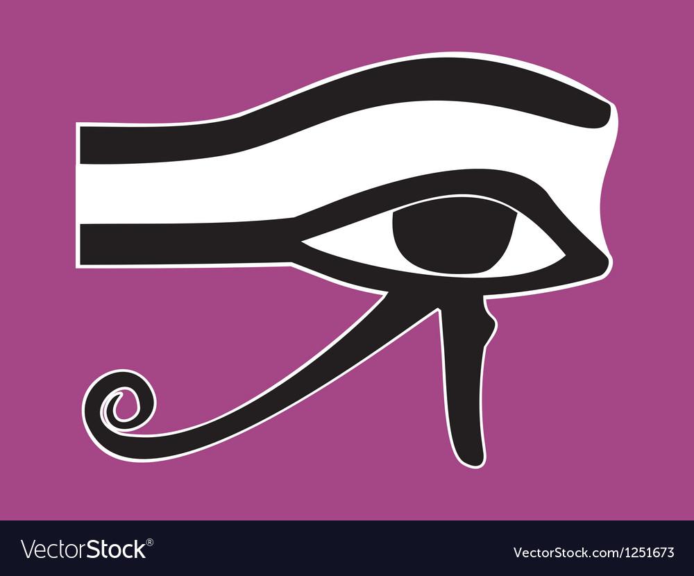 Egyptian eye of horus - ancient religious symbol vector