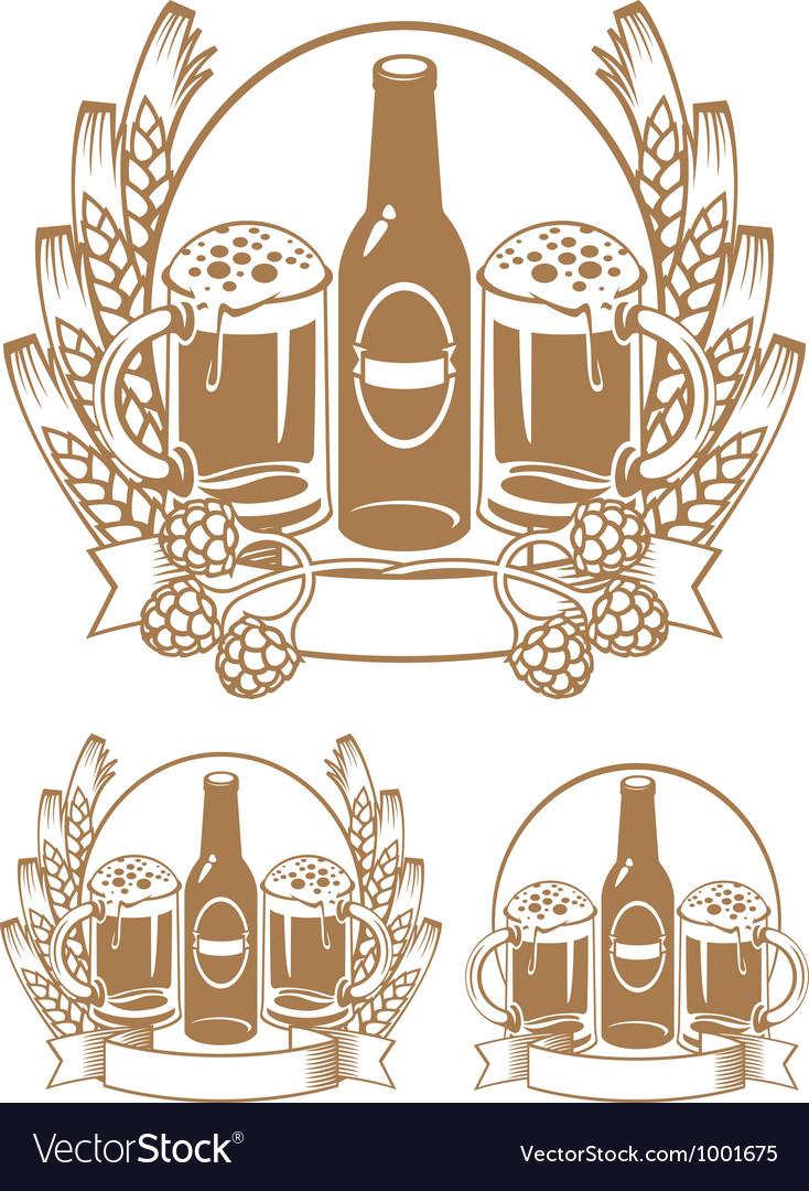 Beer bottle ear vector