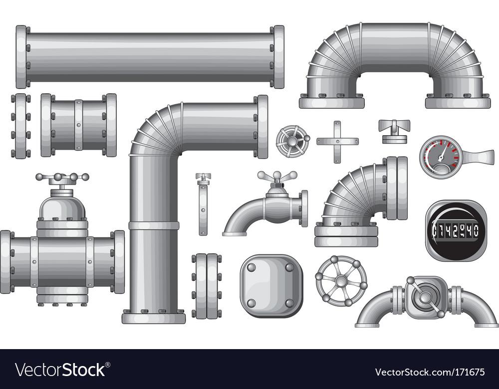 Pipeline construction pieces vector