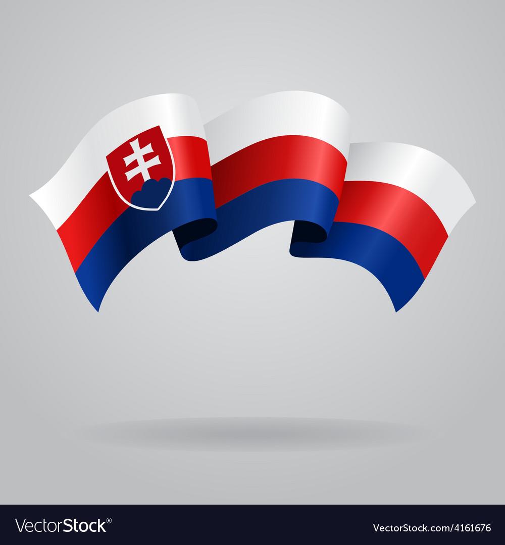 Slovak waving flag vector