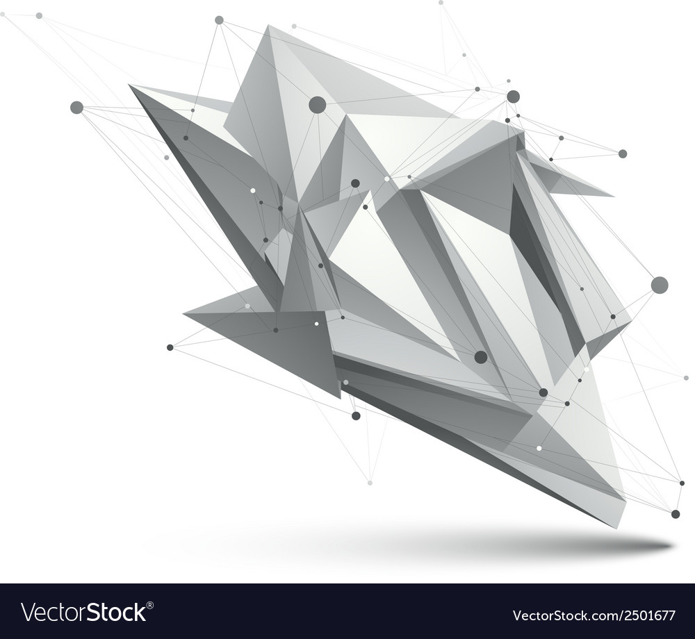 Modern digital technology style abstract unusual vector
