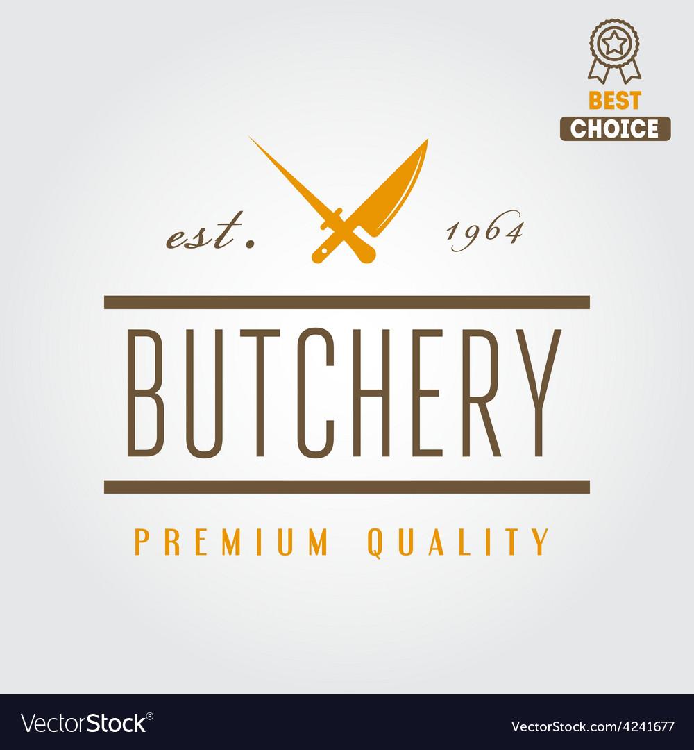 Vintage label badge emblem templates and logo of vector