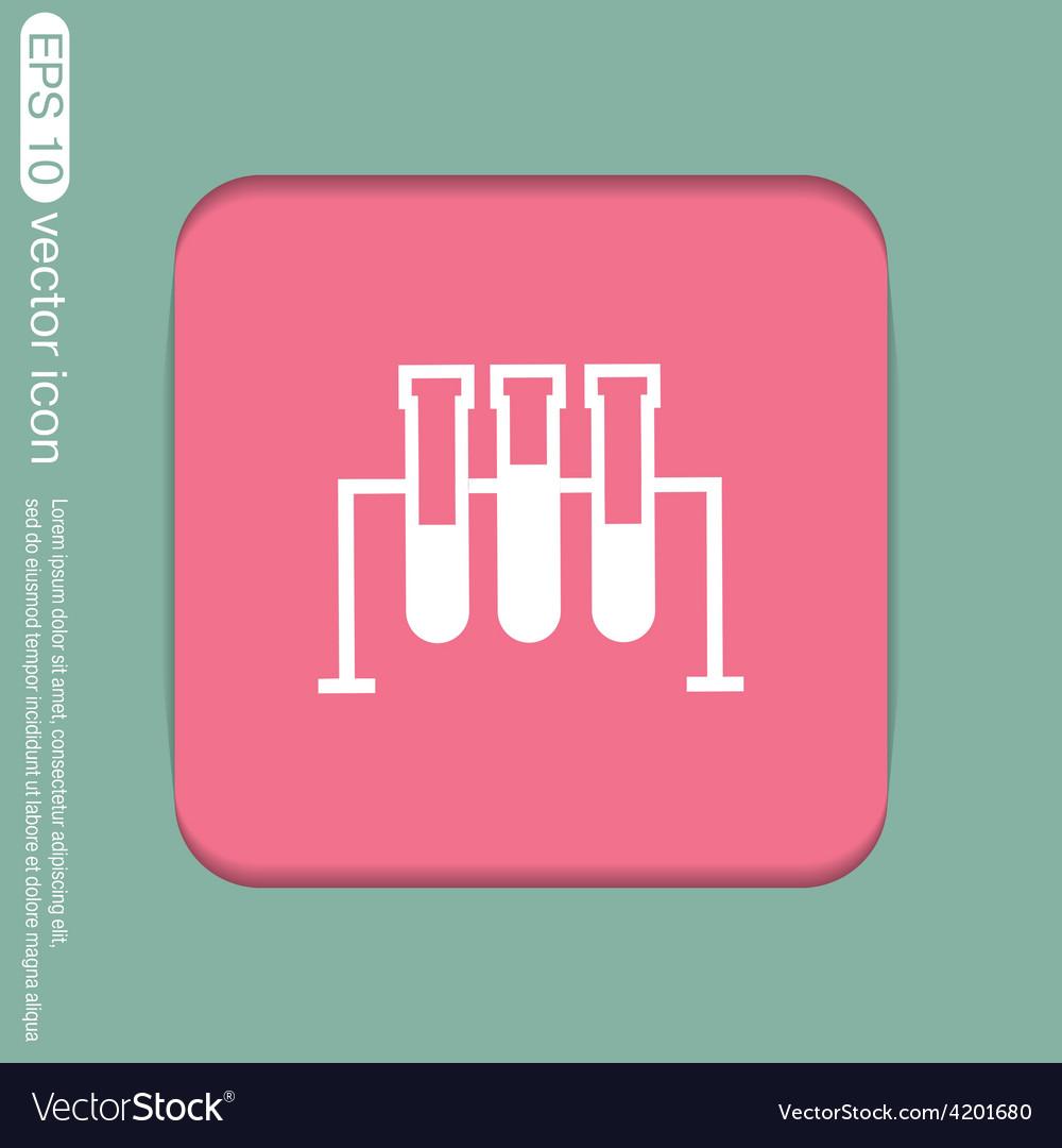 Flask bulb medicine or chemistry vector