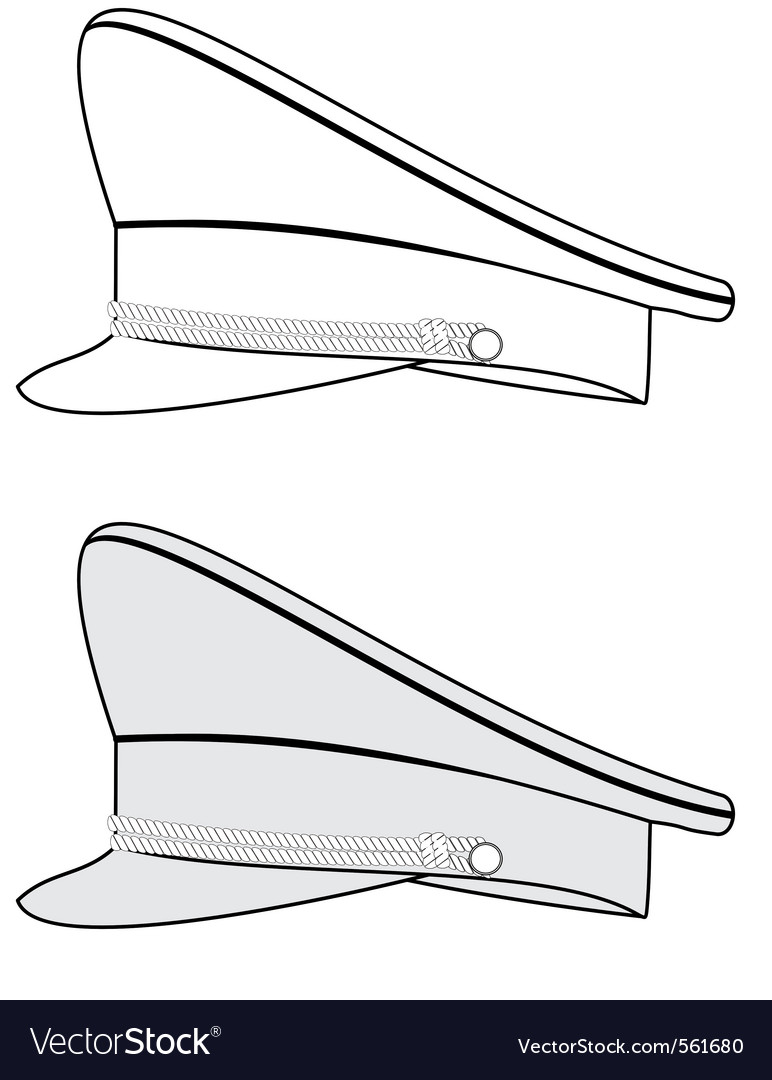 Military officer caps vector