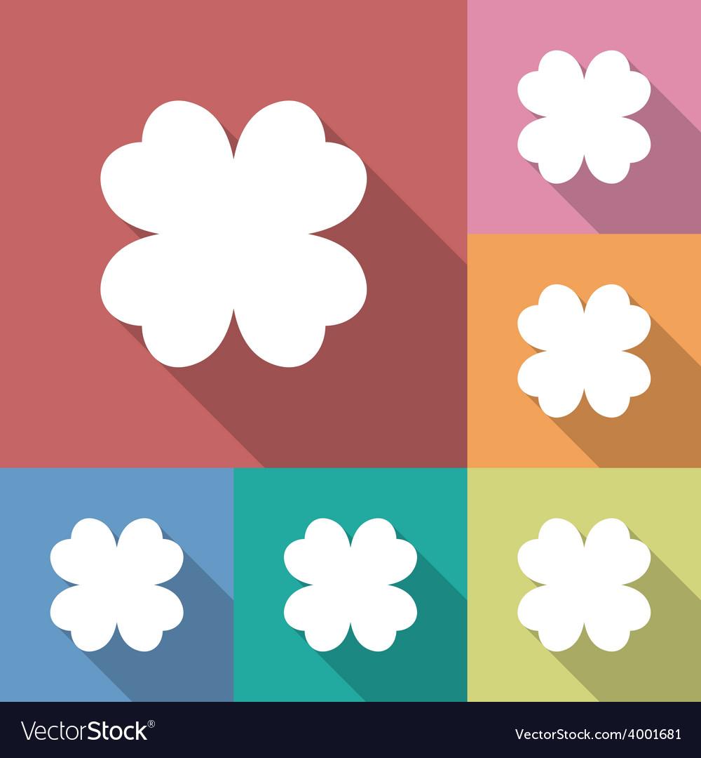 Four leaf clover icon vector