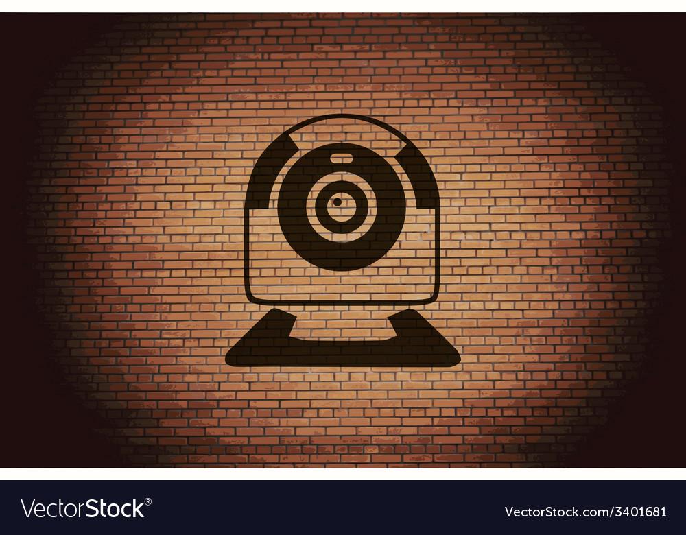 Webcam icon symbol flat modern web design with vector