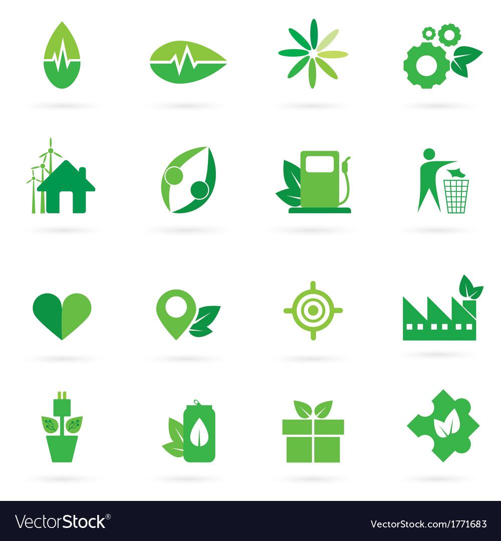 Green icon and symbol design vector