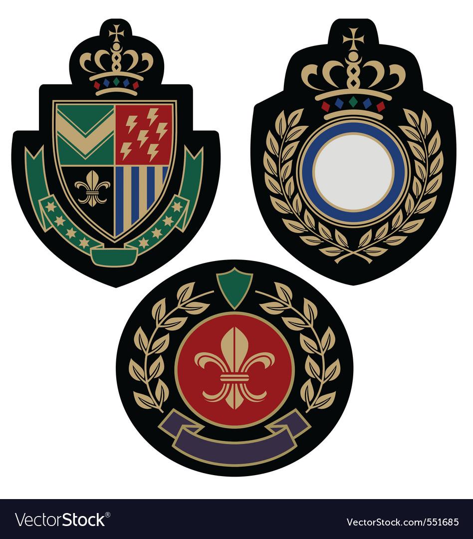 Badge shield vector