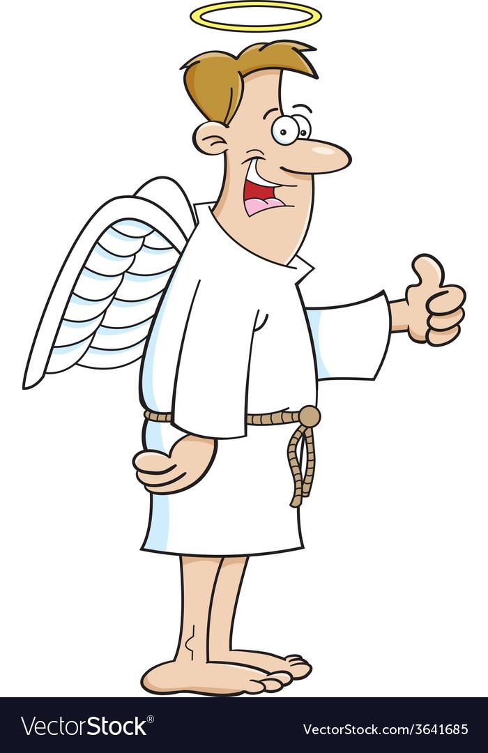 Cartoon male angel vector