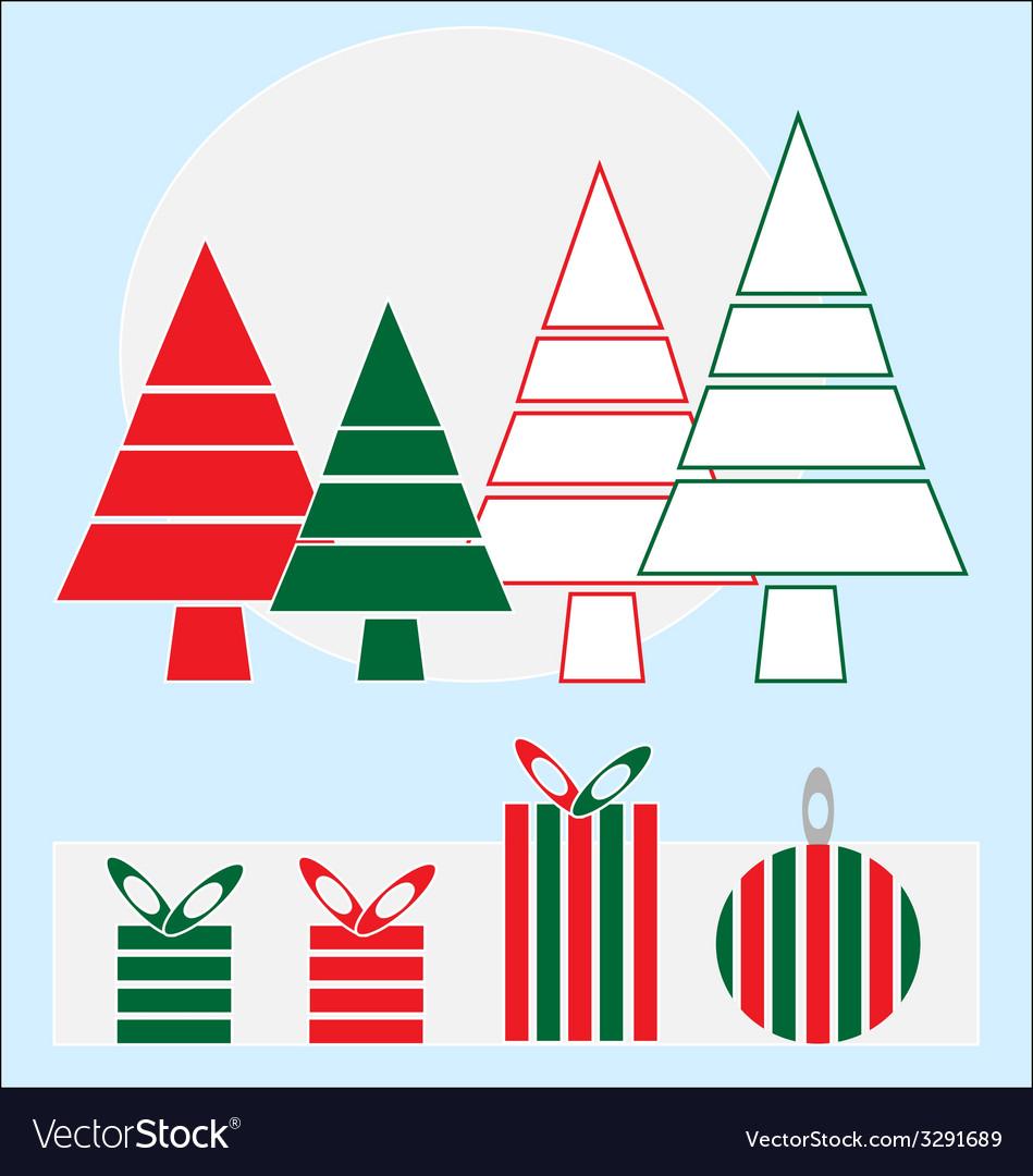 Christmas holidays design elements vector