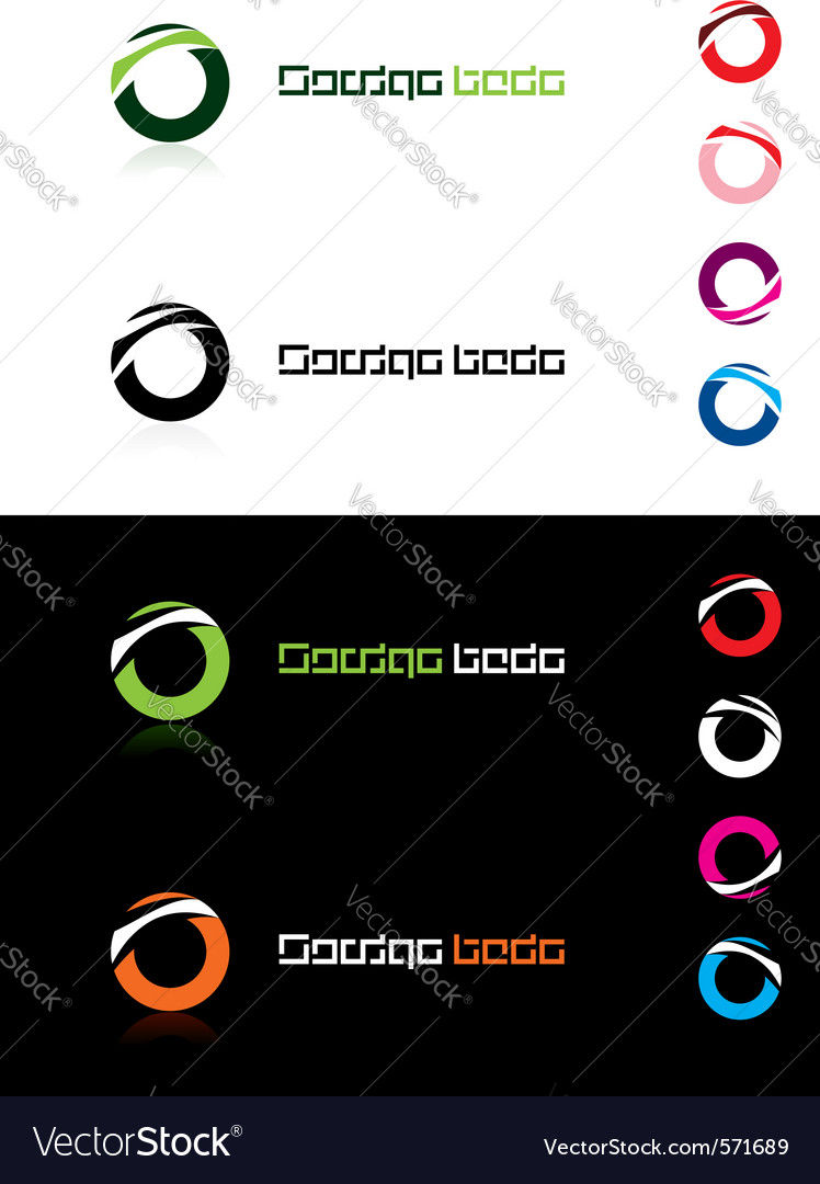 Design element rings vector