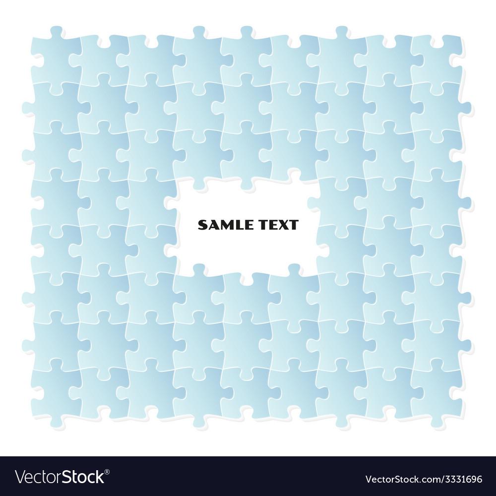 Blue puzzle field vector