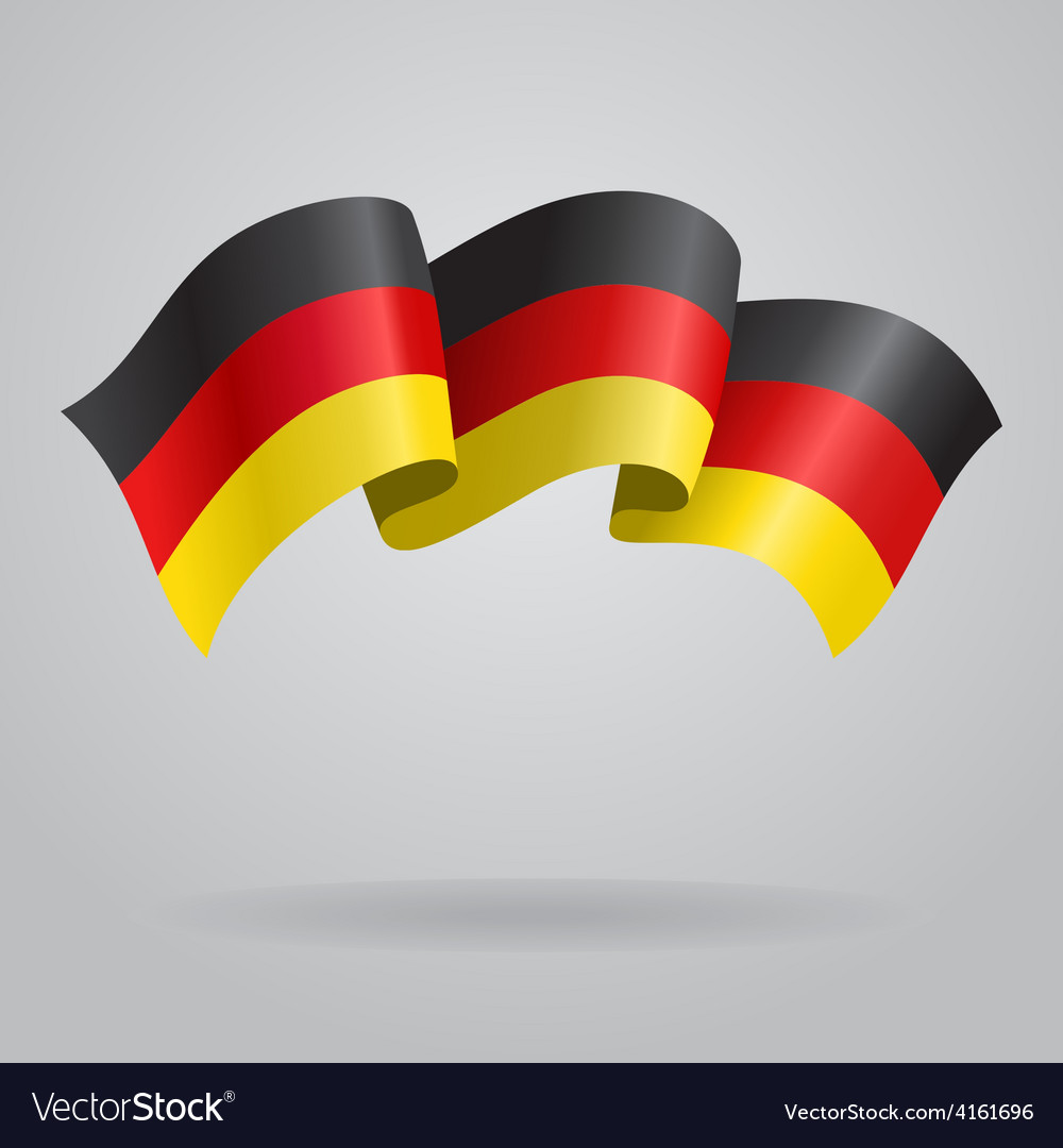 German waving flag vector