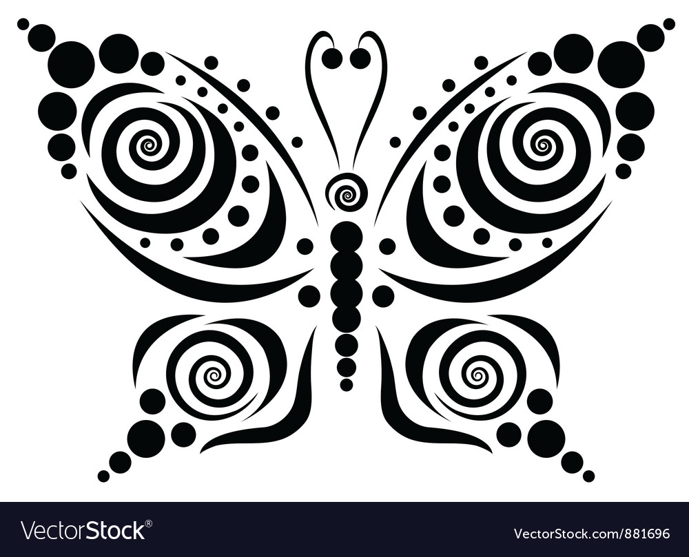 Ornamental butterfly 5 vector