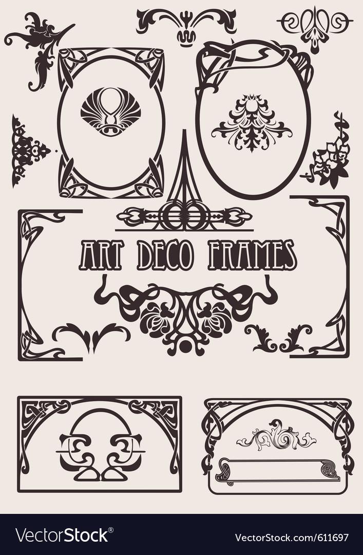 Art deco frames vector