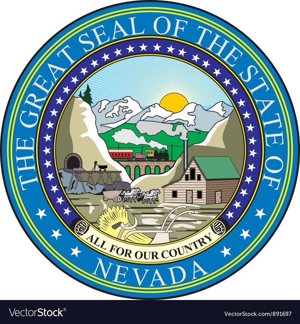 Nevada seal vector