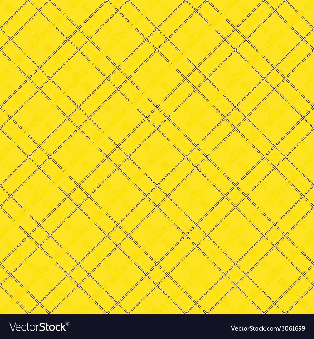 Yellow seamless mesh pattern vector