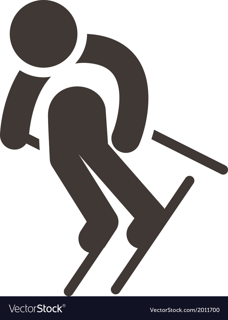 Downhill skiing vector