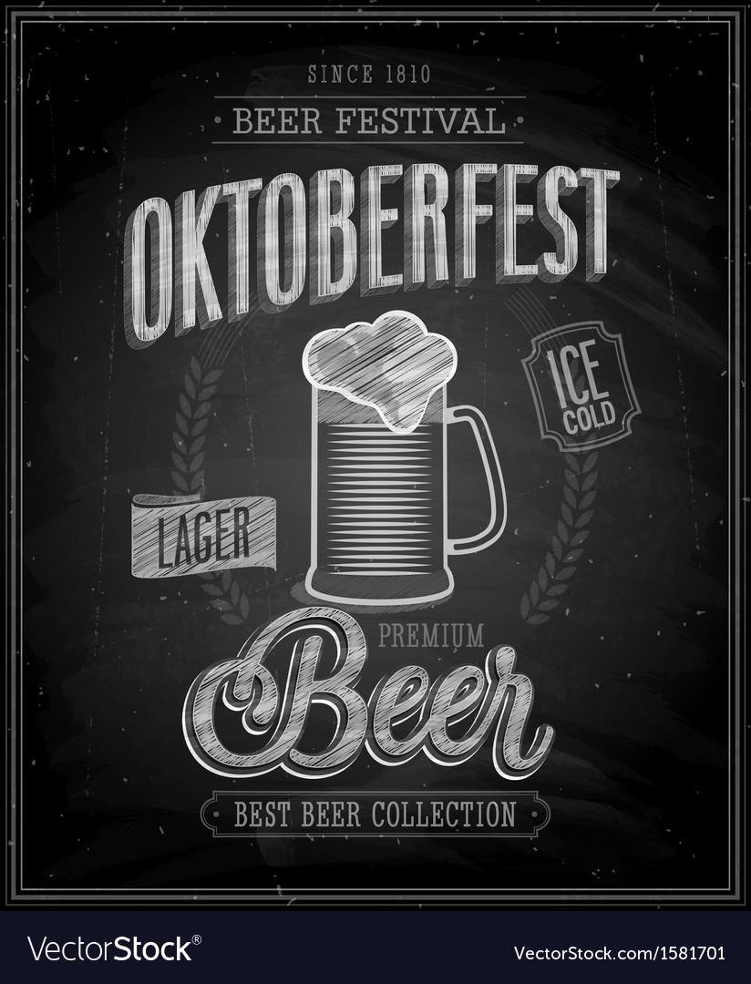 Octoberfest chalk vector