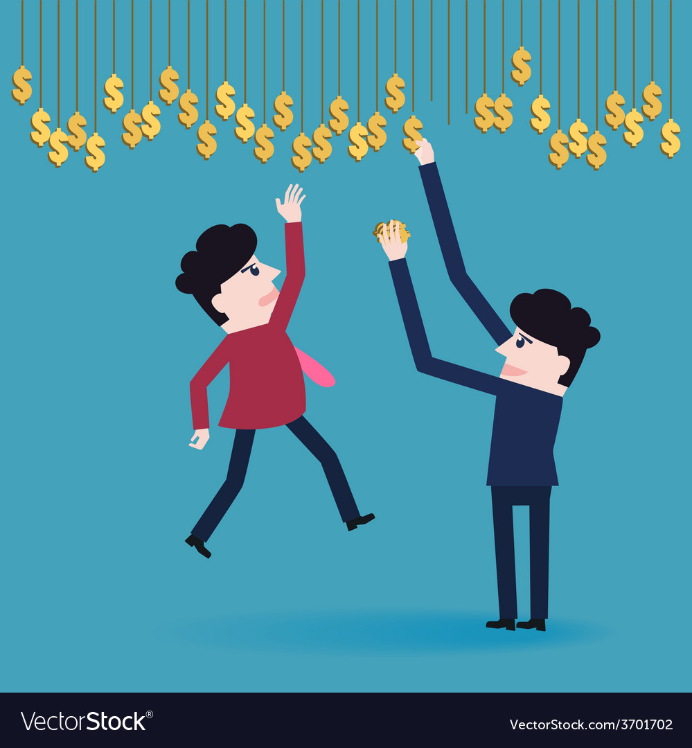 Businessman collect money vector