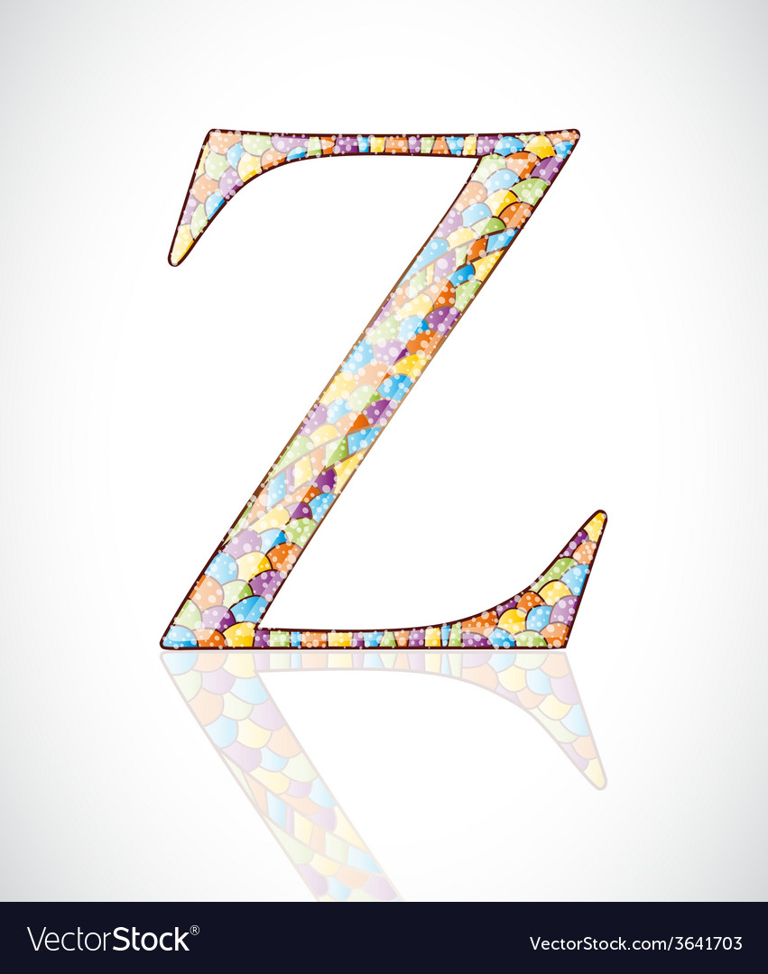 Abstract letter z vector