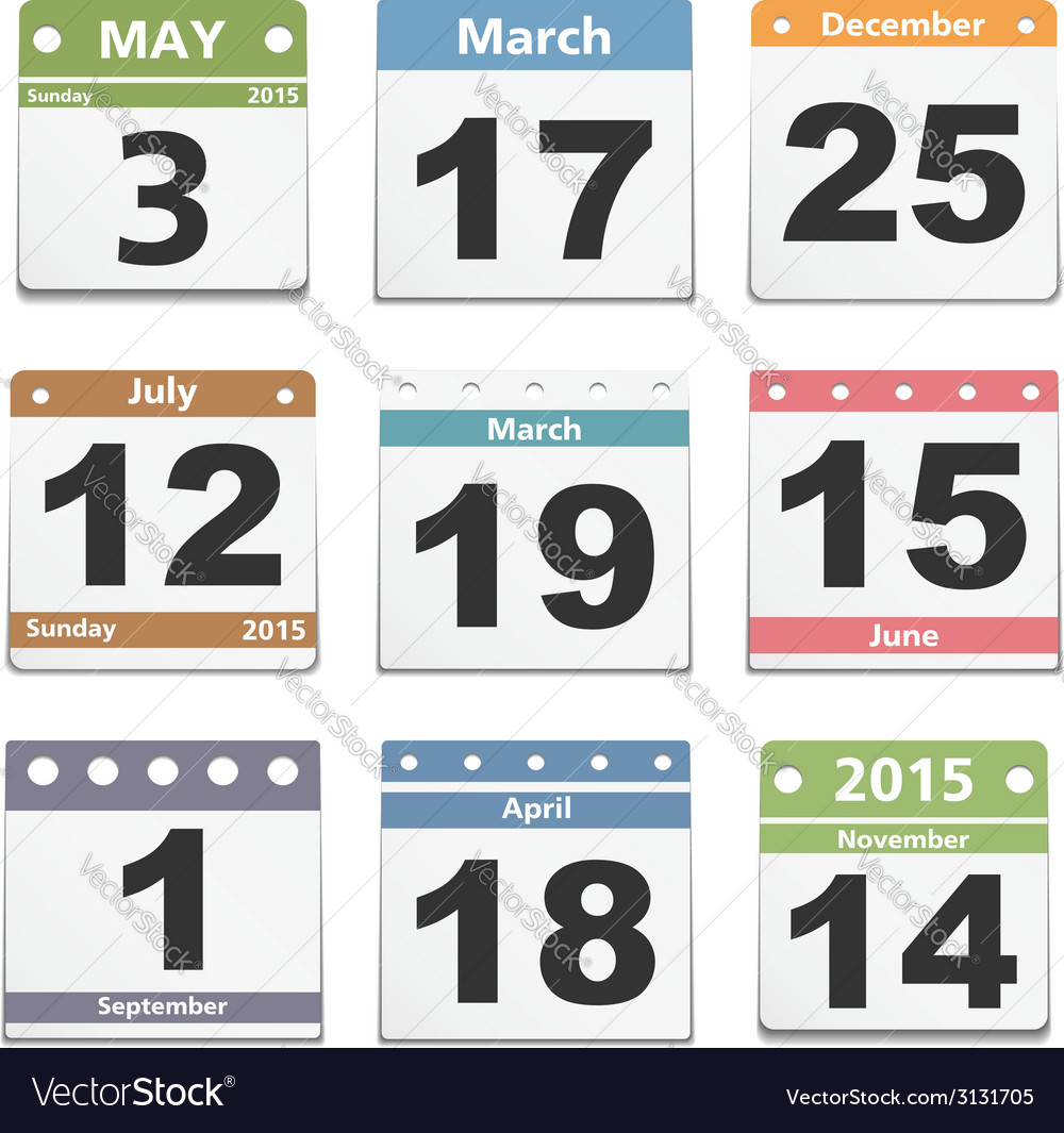 Calendar pages vector