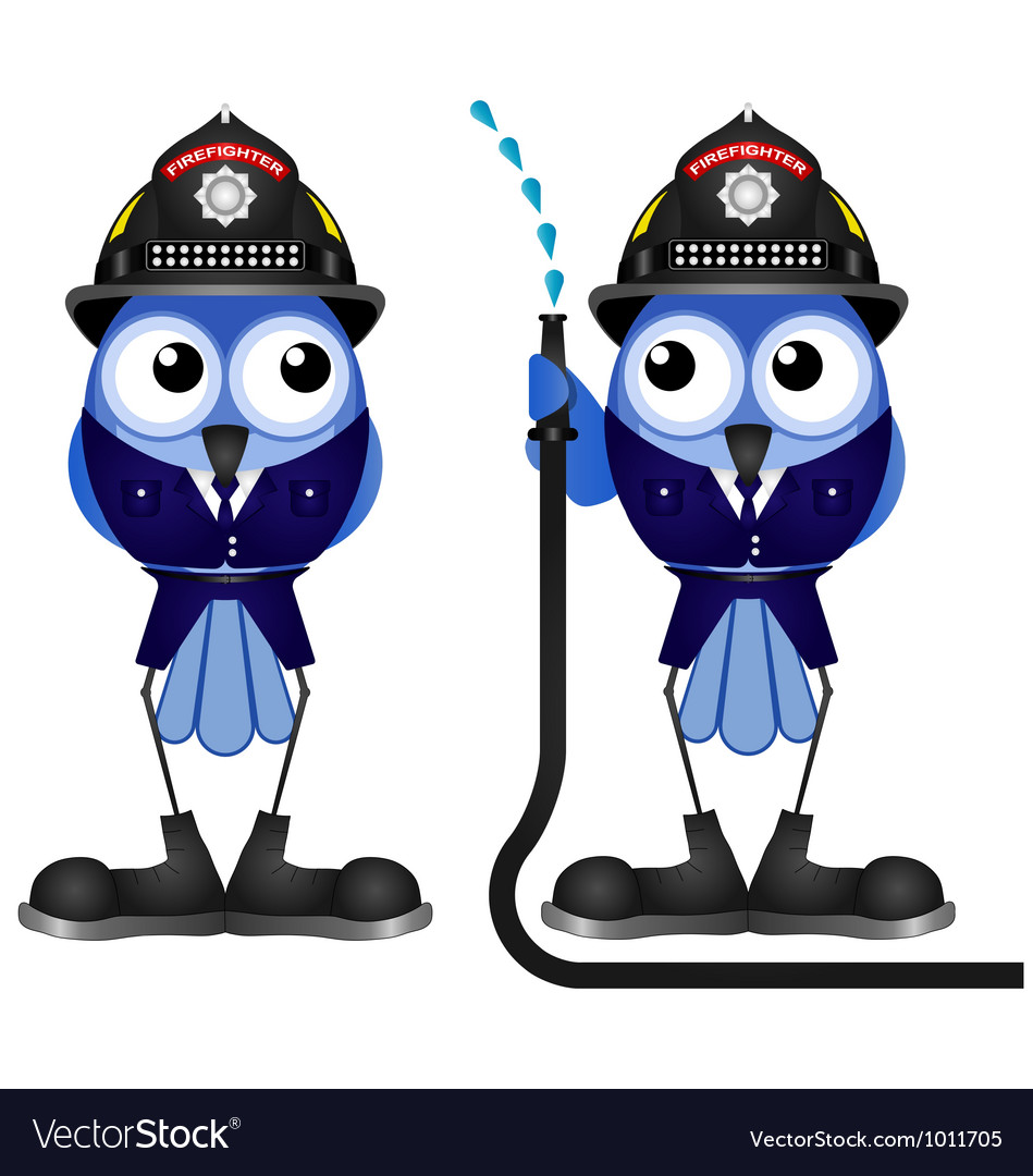 Firefighter hose vector