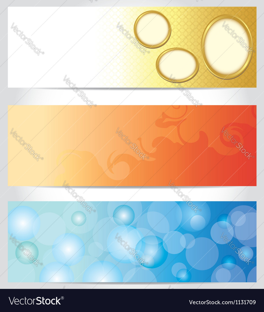 Set - abstract color horizontal backgrounds vector