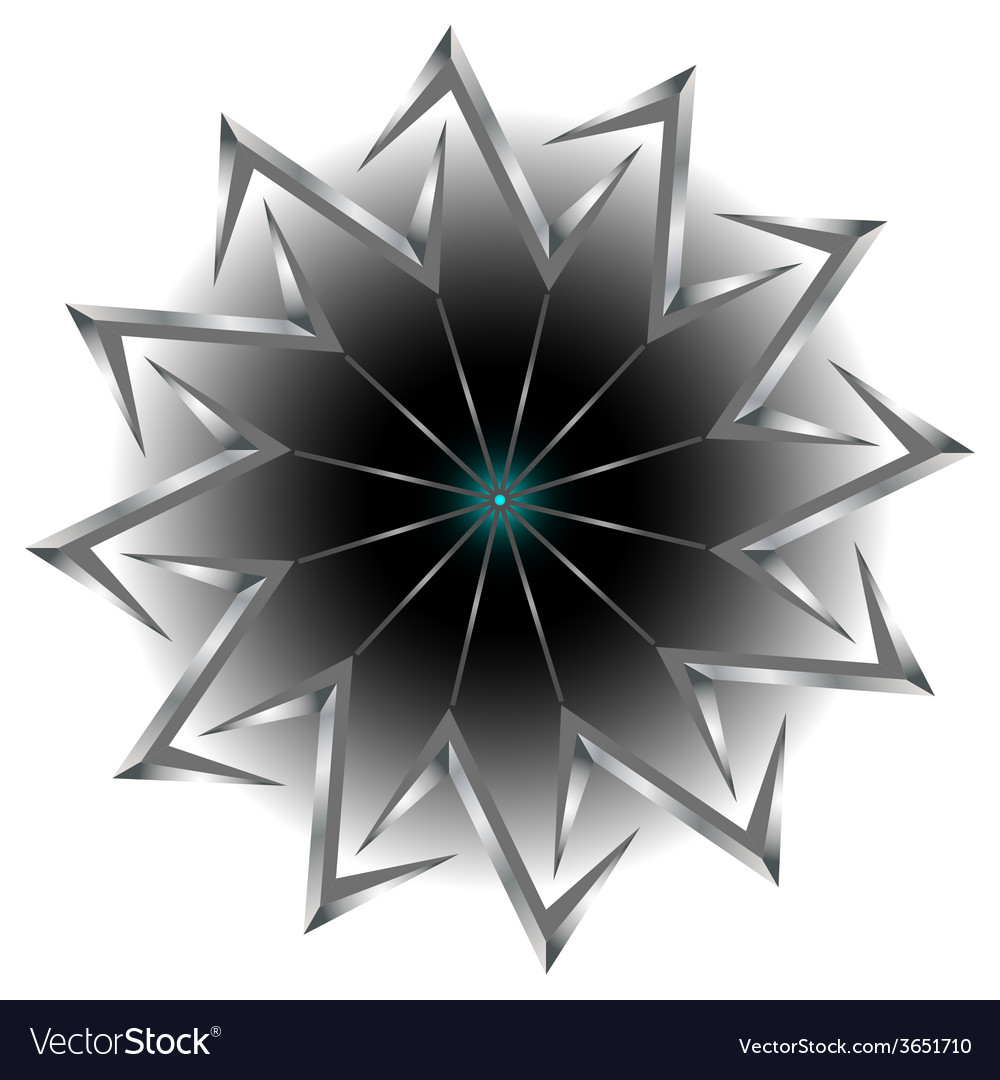 Abstract round figure vector