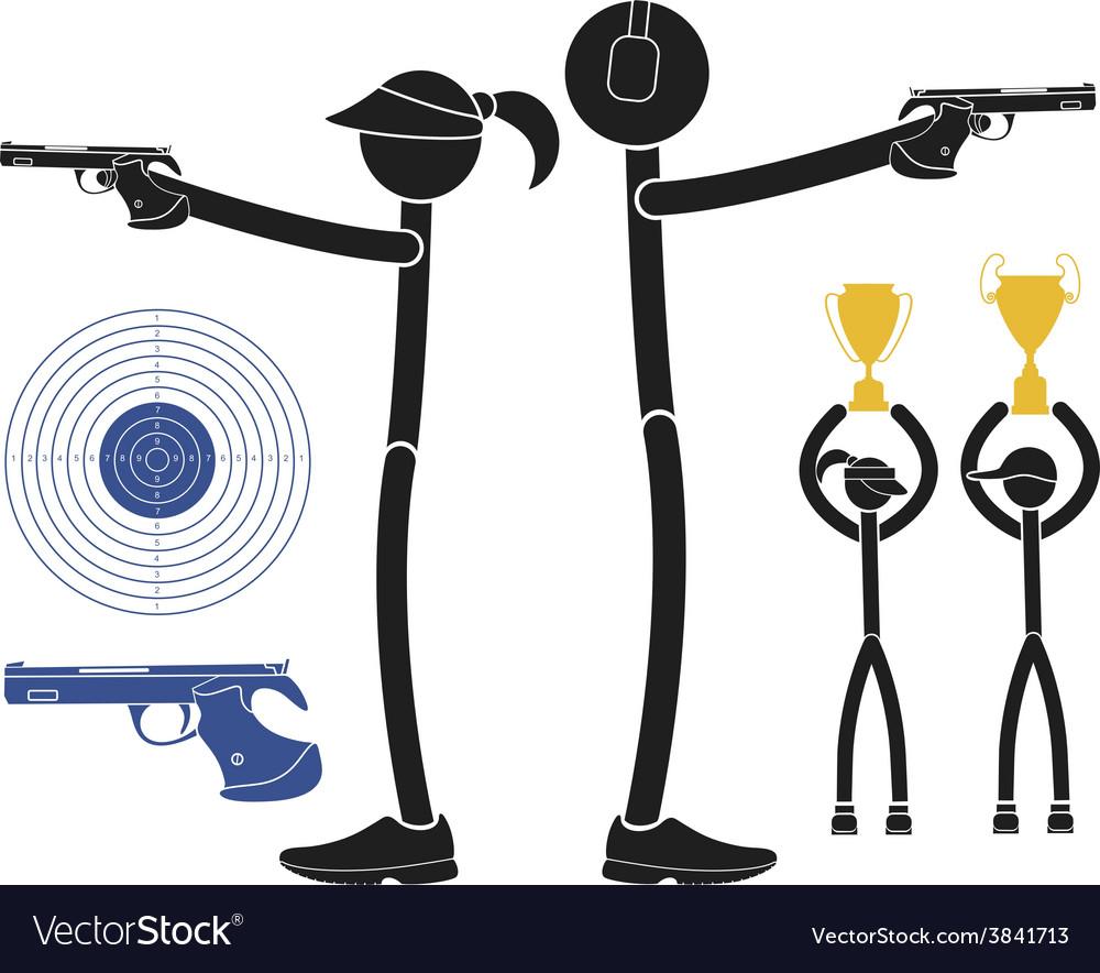 Sports shooting vector