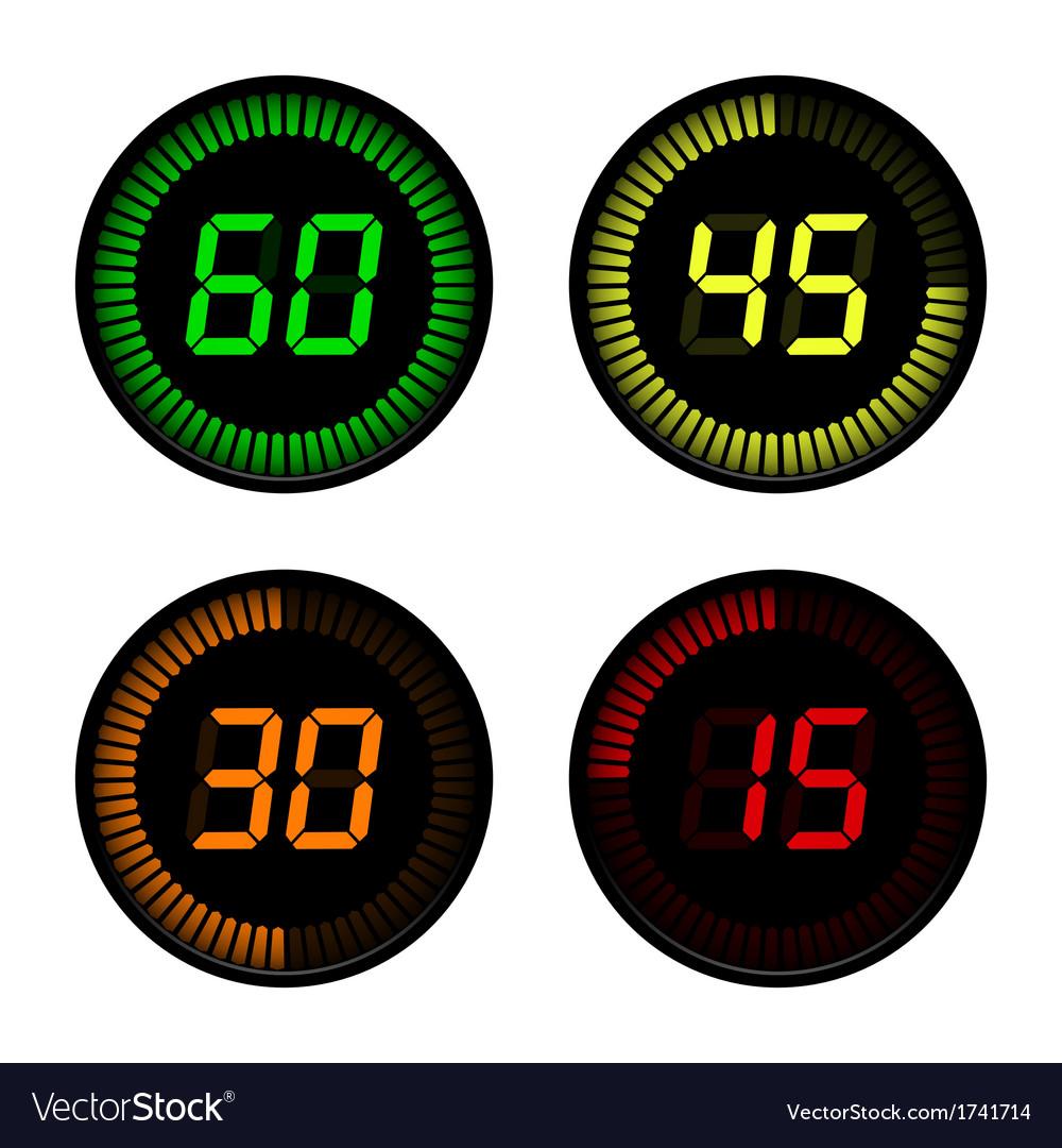 Digital countdown timer vector