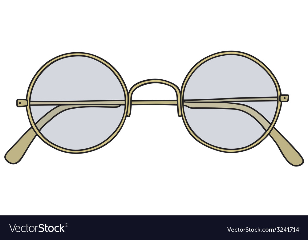 Old glasses vector