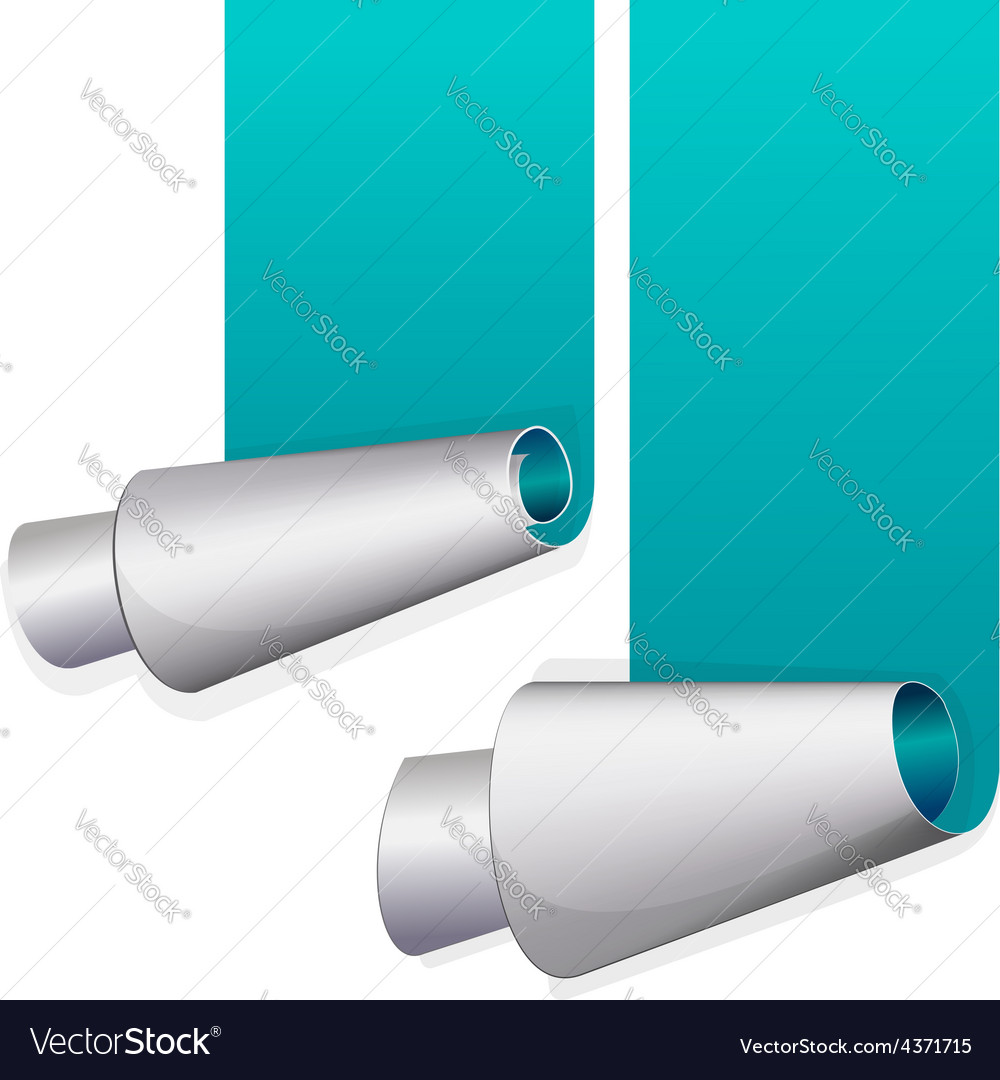 Turquoise sticker with curled up edge vector