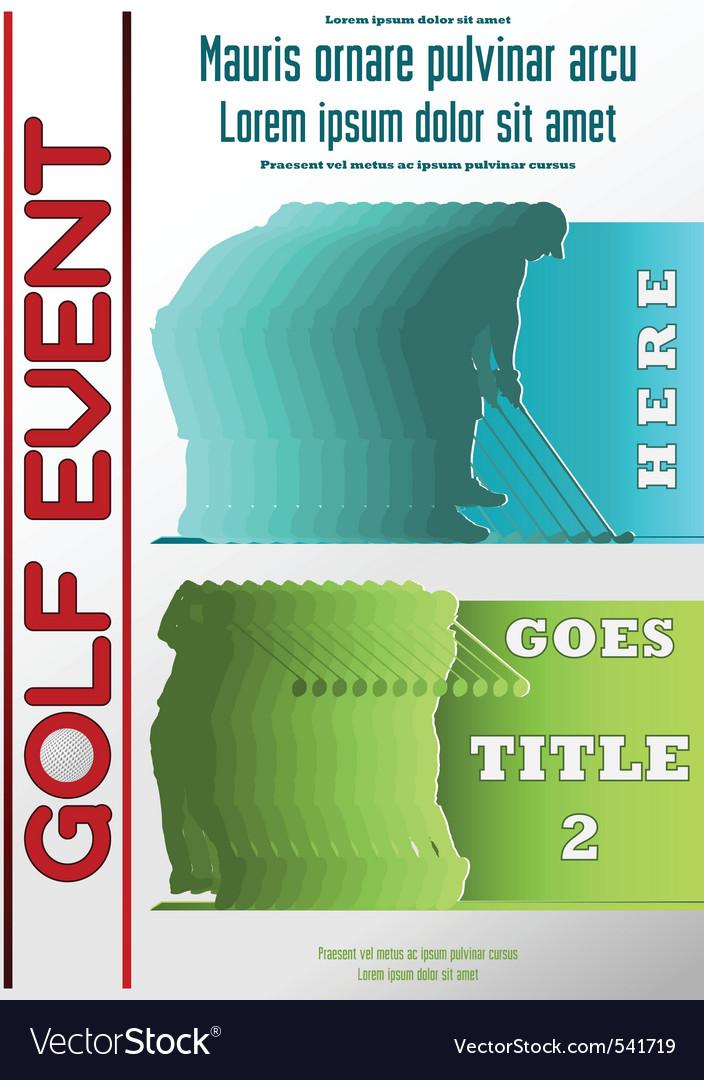 Sport event poster golf vector