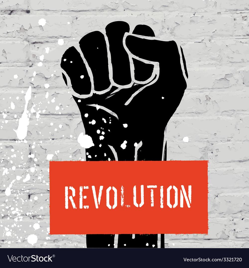 Fist symbol of revolution vector