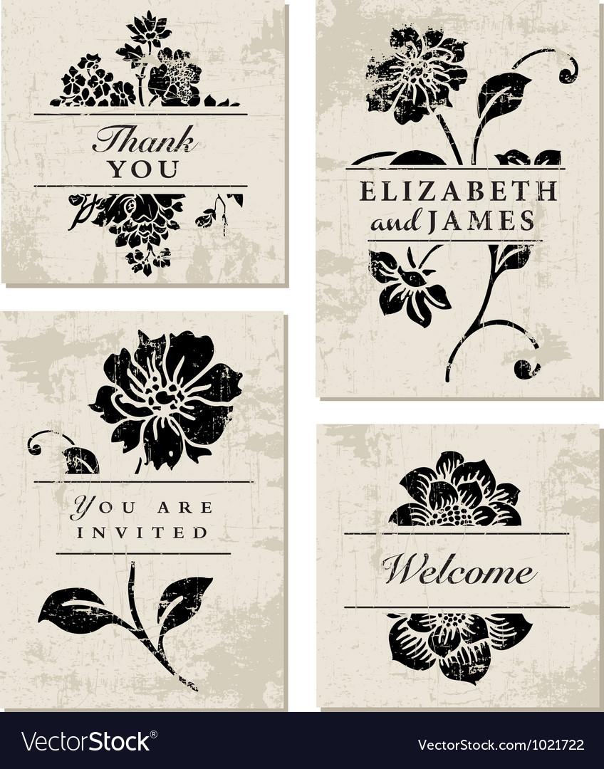 Modern floral template vector