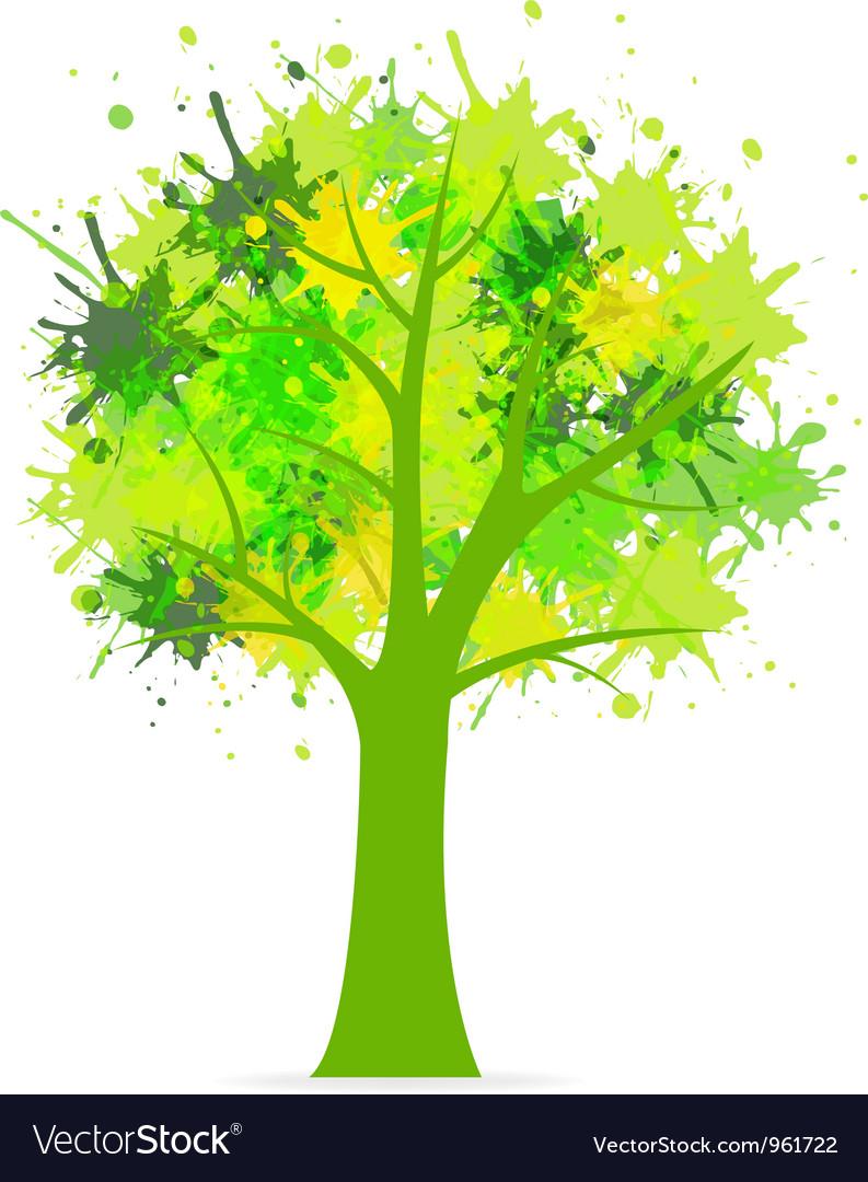 Splatter tree vector
